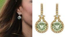 Kate Kiki McDonough Green Amethyst Earrings St. George's Park Opening Splash Product Shot...whatkatewore.com
