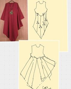 Image gallery – Page 822399581933638290 – Artofit Dress Sewing Patterns, Blouse Patterns, Clothing Patterns, Blouse Designs, Fashion Sewing, Diy Fashion, Fashion Dresses, Diy Clothes, Clothes For Women
