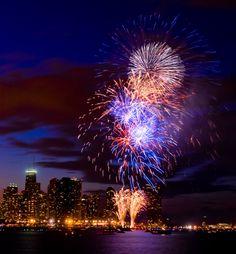 Fireworks at Navy Pier, Chicago, Illinois