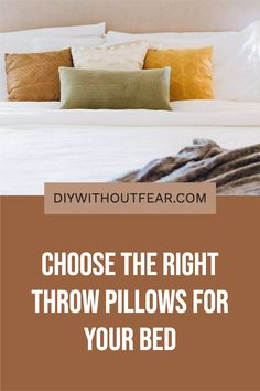 Choosing throw pillows for your bed is kind of like choosing friends. If you fall in love with a really 'loud personality' pillow, make sure its friends are there to support it, not compete against it. Throw pillows are a low-risk/high-reward decorating decision. There aren't hard and fast rules, and there are SO many options. Boys Room Design, Boys Room Decor, Boy Room, Kids Room, Girls Bedroom, Bedroom Ideas, Modern Master Bedroom, Types Of Carpet, Bed In A Bag