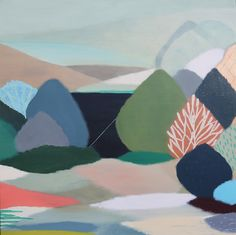Belynda Henry 'My Heart Skipped a Beat' l The Design Files and Australian artists support ASRC Design Blog, The Design Files, Design Art, Landscape Drawings, Landscape Art, Abstract Nature, Abstract Art, Melbourne, Exhibition