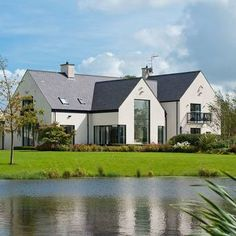 Excellent 17 House Plans Ireland Two Storey Contemporary Irish House Design, . Added by Admin on September 2017 at House Decorations Style At Home, House Designs Ireland, Ireland Homes, House Ireland, Modern Farmhouse Exterior, Farmhouse Windows, New House Plans, Facade House, House Layouts