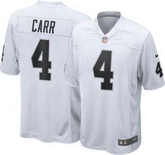 Nike Men s Away Game Jersey Oakland Raiders Derek Carr  4 f7506378c