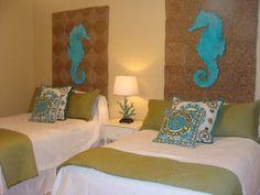 Beach bedding collections slip away to the soothing for Beach condo interior design ideas