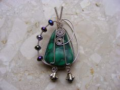 Wire wrapping: Malachit