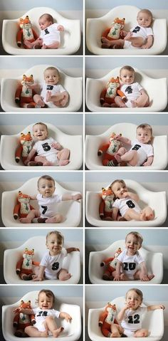 Do you capture monthly photos of your baby? Here is a collection of some creative Monthly Baby Photo Ideas for capturing your baby's monthly growth.