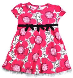 Absorba Toddler Girls Berry Pink Printed Dress