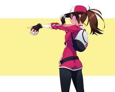 ポケモンちゃん by  村上水軍 <<  this is what my character looks like :D I actually like the brown ponytail and hat because it looks a lot like me!