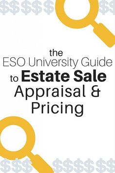 Need help pricing your estate sale goodies? Lots of great resources in this free guide!