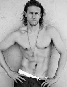 Charlie Hunnam from Sons of Anarchy. Oh my goodness! I'm speechless!!