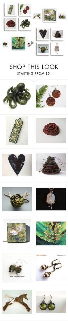 """""""Etsy Gifts"""" by keepsakedesignbycmm ❤ liked on Polyvore featuring Olivine, Home, jewelry and accessories"""