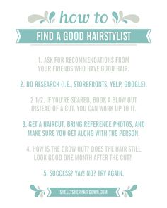 tips for finding the perfect hairstylist