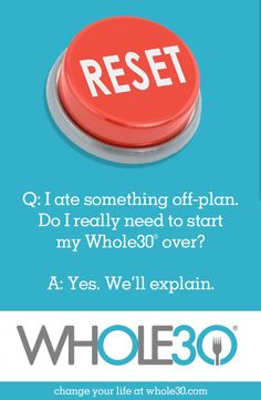 """""""I ate something off-plan during my Whole30. Do I really need to start over?"""""""