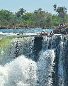Devil's Pool in Victoria Falls, Zambia
