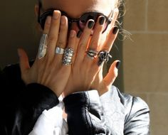 Rings and nails two different colors