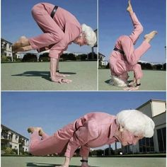 Granny Yoga posing, respect!