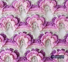 MyPicot | Free crochet patterns | flower stitch