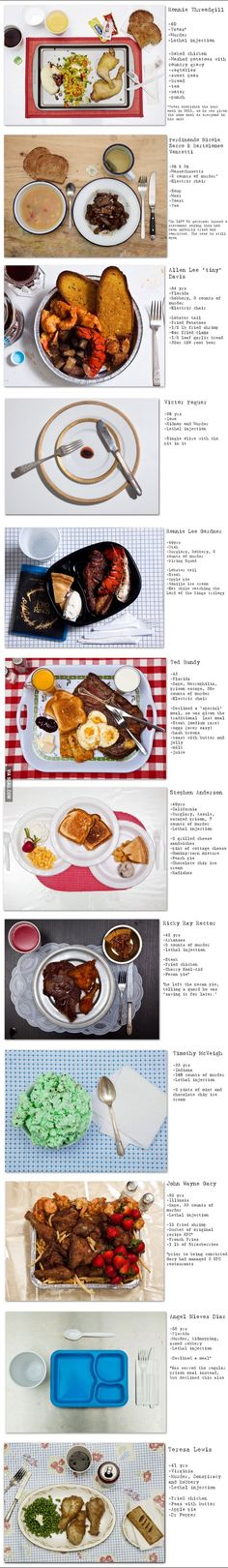 famous death row inmates last meals