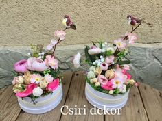 Small Centerpieces, Flower Boxes, Ikebana, Crafts To Sell, Floral Arrangements, Floral Wreath, Bouquet, Easter, Wreaths