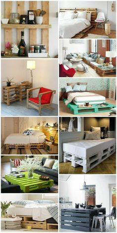 Pallets furniture DIY I love pallet furniture One Day it will be a part time business!