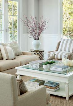 Neutral coastal living room designed by Verandah House www.verandahhouse.com.au