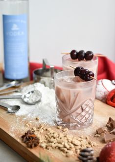 Georgian Bay Vodka™ Creme de Menthe Top with Organic Chocolate Milk Garnish: Cherries on a wooden skewer Glass Type: Rocks Fill rocks glass with ice and pour ingredients directly into the glass. Gently stir and garnish with a cherry. Organic Chocolate Milk, Chocolate Cherry, Vodka Recipes, Skewers, Cherries, Georgian, Fill, Rocks, Cocktail
