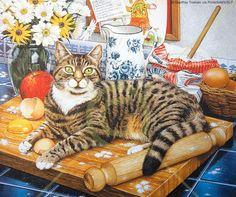 Wilberforce by Geoff Tristam ~ cat mischief