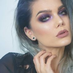 Sparkling purple. Product list on the blog lindahallberg.com #fotd #makeup