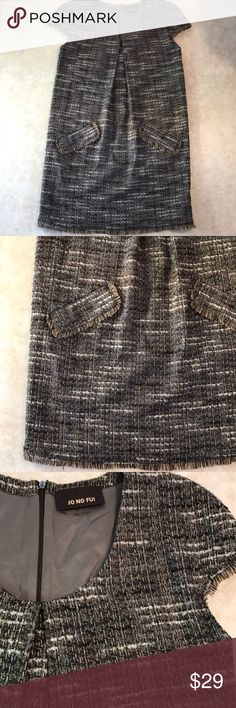 JO NO FUI Italian designer dress Wonderful condition fully lined front pockets dress. Great winter dress to style w booties great texture jo no fui Dresses Midi