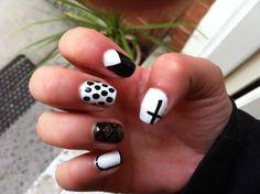 Black and white #nails #nailart