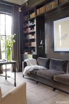 restoration hardware design gray couch - Google Search