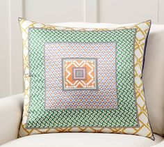 Cesca Print Pillow Cover | Pottery Barn