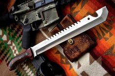 iPak Custom Handmade D2 Tool Large Chopper Machete Combat Military Knife by ComeandTakeThem on Etsy