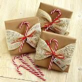 Candy Cane Package Toppers