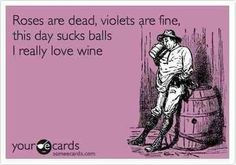 Rose are red, violets are fine, this day sucks balls, I really love beer, but wine works too.