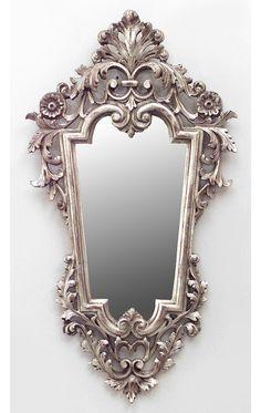 Rococó italiano espejo de pared  de plata dorada