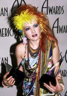 Wild hair a la Cyndi Lauper