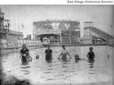 Children wading in a pool at Wonderland Amusement Park in Ocean Beach, Ca. 1913