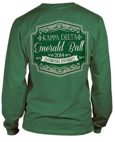 Kappa Delta Formal T-shirt Kappa Delta Shirts, Kappa Delta Sorority, Delta Phi Epsilon, Alpha Sigma Alpha, Sorority And Fraternity, Sorority Shirts, Tri Delta, Theta, Delta Greek