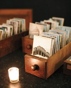 Well-wishers signed vintage NYC postcards found at a flea market, then dropped them into a glass mailbox.