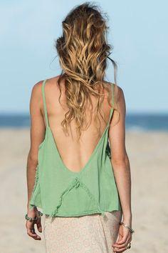 Linen Open Back Top Linen Beach Top Linen Summer Top | Etsy