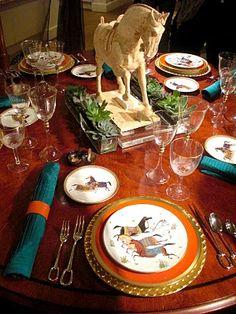 Hermes plates, Barbara Scavullo design