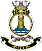 HMAS Armidale (ACPB named for the city of Armidale, New South Wales, is the lead ship of the Armidale class of patrol boats serving in the Royal Australian Navy (RAN) Ship Logo, Australian Defence Force, Royal Australian Navy, Ship Paintings, Emblem, Armada, Coal Mining, Crests, South Wales