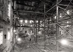 White House - 1950 showing interior brick facing.