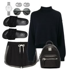"""""""Untitled #4123"""" by magsmccray on Polyvore featuring Monki, Rejina Pyo, Puma, MCM, Daniel Wellington and Gucci"""