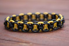 Black and Gold stretchable chainmaille by SaturdaysDownSouth, $7.50
