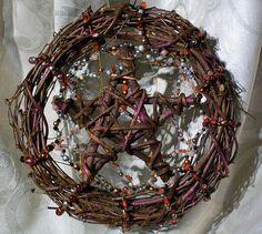 Pentacle Grapevine Wreath