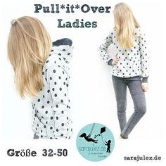 Nähanleitungen Kind - Ebook Pullover Pull*it*Over Ladies Gr. 32-50 - ein Designerstück von SaraJulez bei DaWanda