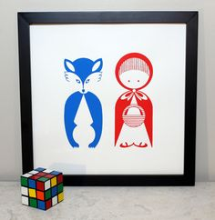 Little Red Riding Hood Art Print by titiluli on Etsy.