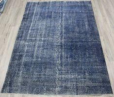 Turkish rug, navy blue rug, over dyed rug, area rug, floor - Carpets Mag Bohemian Rug, Boho Rugs, Turkish Kilim Rugs, Rugs In Living Room, Rug Making, Floor Rugs, Handmade Rugs, Rugs On Carpet, Vintage Rugs